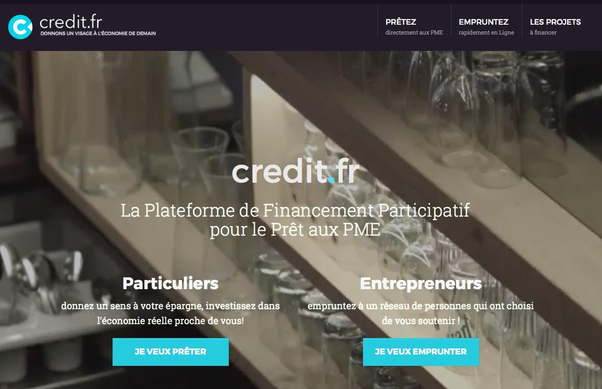 Credit.fr : Plateforme de crowdlending