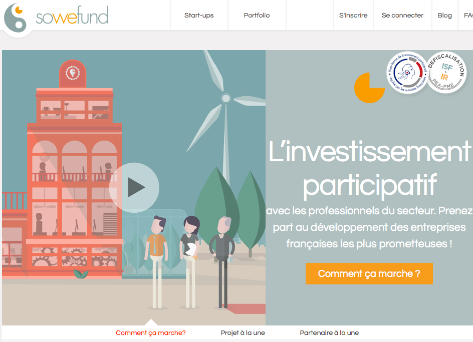 Sowefund : Plateforme de co-crowdfunding en equity
