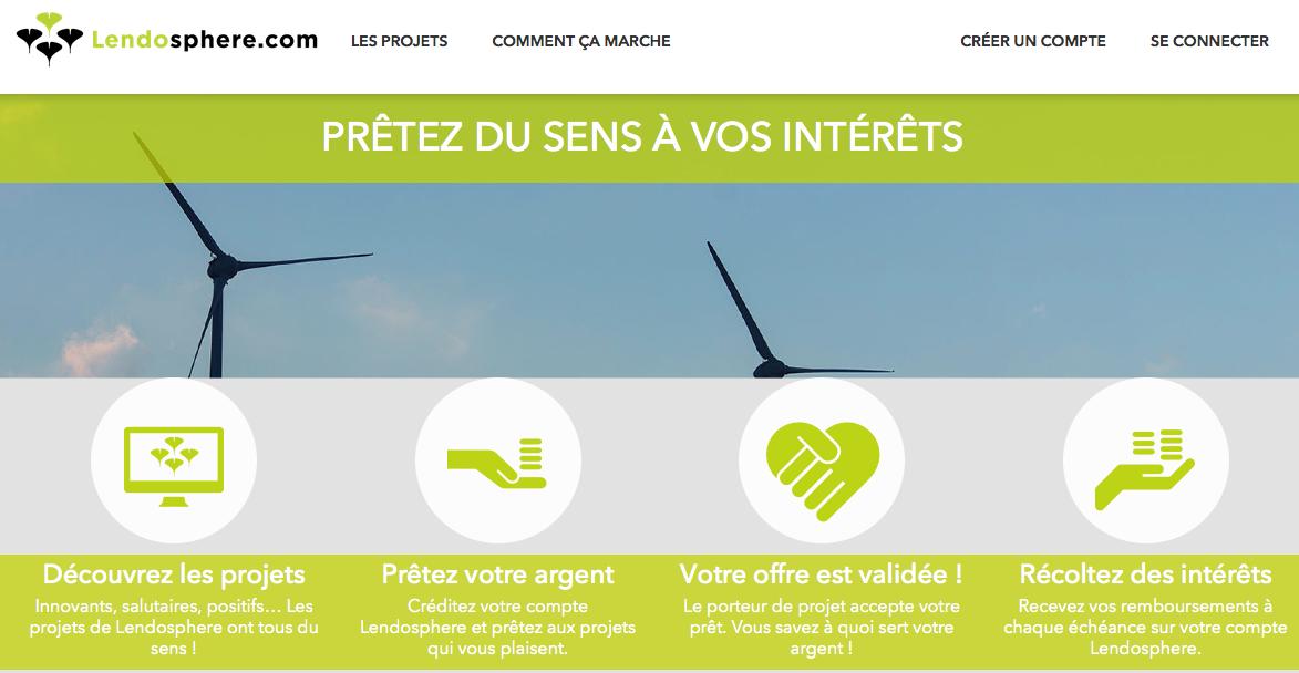 lendosphere : Plateforme de crowdlending dédié à la transition écologique