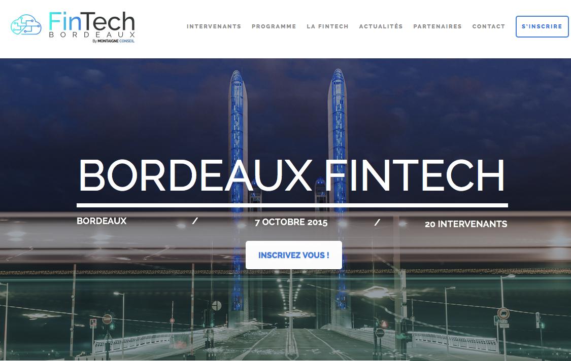 Bordeaux Fintech a lieu le 7 octobre 2015 à Darwin