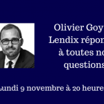 Interview en direct d'Olivier Goy – Lendix – Lundi 9 novembre 2015 à 20 h