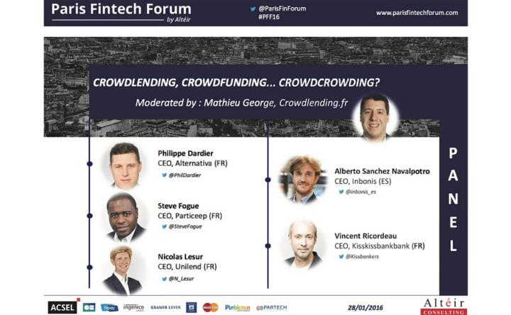 Paris Fintech Forum : Crowdlending, crowdfunding, ... 28 janvier 2015
