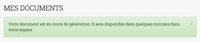 message attente IFU Credit.FR