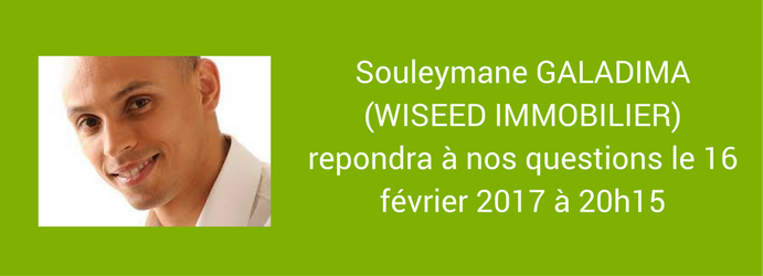 Interview Souleymane Galadima Wiseed immobilier 15 février 2017