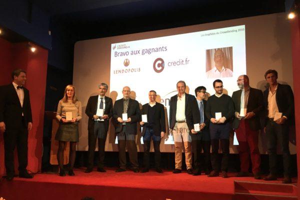 Gagnants des 1ers trophées du crowdlending 2016