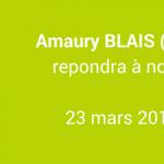 Interview d'Amaury Blais, cofondateur et CEO de Lendosphère – Jeudi 23 mars 2017 à 20h15