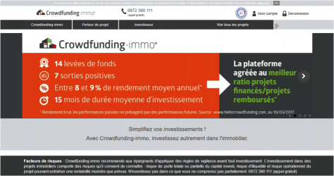 crowdfunding-immo : plateforme de financement participatif dédié à l'immobilier