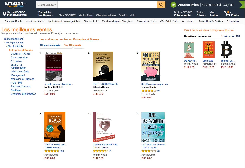 """Le livre """"investir en crowdlending"""" est N°1 sur Amazon dans la catégorie Entreprise et bourse"""