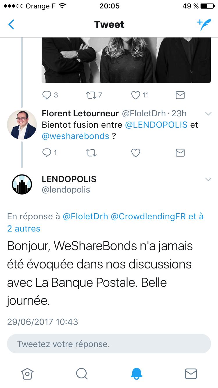 Réponse de Lendopolis à la fusion avec WeShareBonds