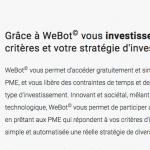 Webot : Wesharebonds lance son robot d'investissement