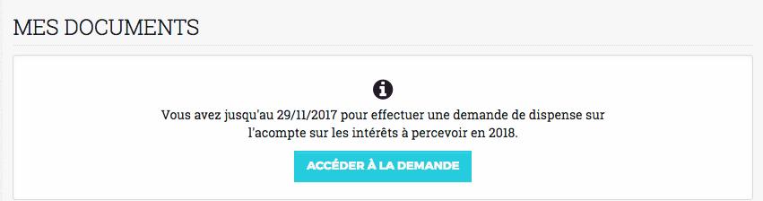 dispense d'acompte Credit.fr